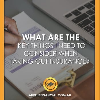Things to consider in insurance
